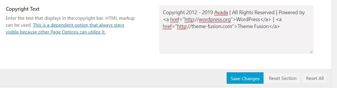 Wordpress底部栏Copyright设置 (2)